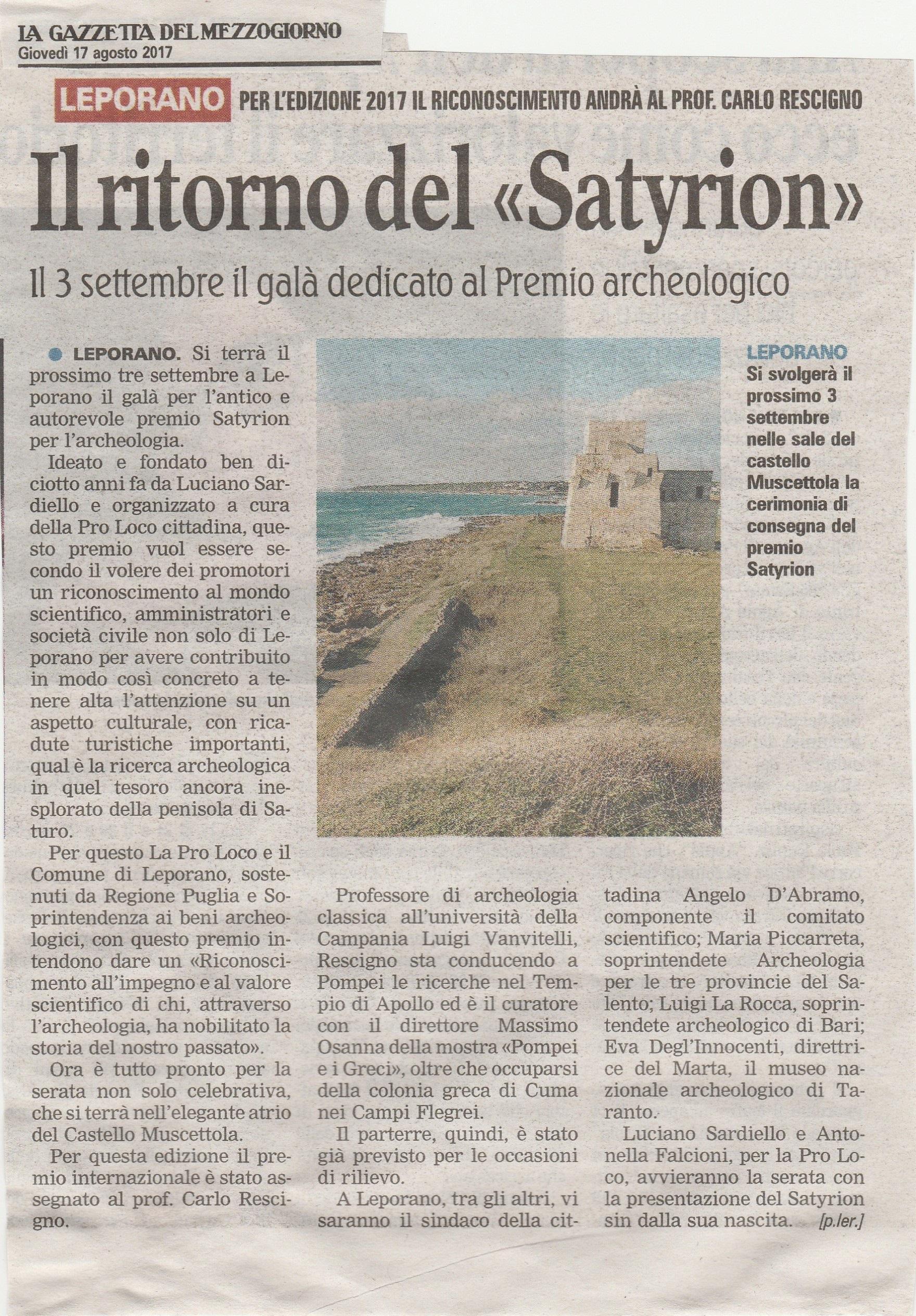 articolo Satyrion XVIII